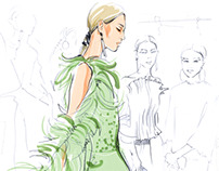 Paris couture week sketchbook  #1
