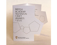BAFTA Television Craft Awards 2013 Visual Identity