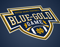Notre Dame Blue - Gold Game