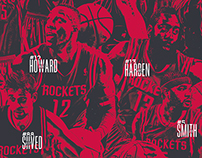 Houston Rockets 2014-15 Team Poster