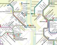 Kyiv Tram Routes Map