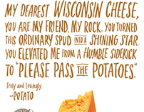 Wisconsin Cheese LOVE LETTERS Ad Campaign