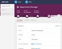 CRM Record Overview Redesign