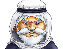 Character Design - Old / wise arab man