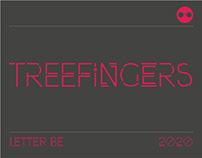 Treefingers - free font display