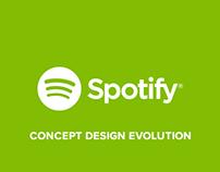 Spotify Windows (concept design evolution)