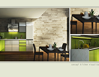 Interior 3D Visualization of Kitchen