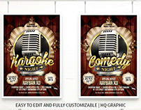 Karaoke / Comedy Night Stars Flyer