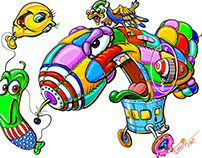Patchwork balloon