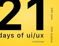 21 days of ui/ux