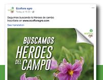 Buscamos Héroes del Campo Ecoflora agro