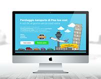 Pisa airport Landing page