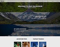 Itinerary Travel Blog Website Concept