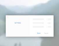 Daily UI - 007 - Settings