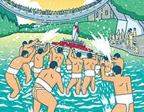 馬見原火伏地蔵祭2017