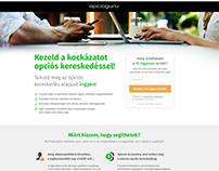 OpcioGuru - Responsive HTML & CSS landing page