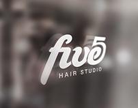 Five - hair studio logotype