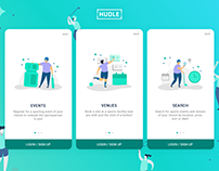 Hudle - App Onboarding Screens