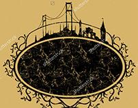 İstanbul city graphic design vector art