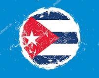Cuba havana flag graphic design vector art