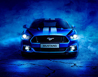 Ford Mustang - Full CGI & Retouching