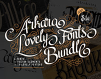 Arkara Lovely Fonts Bundle