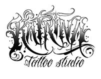 tattoo studio lettering