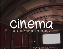 cinema - a free and unique handwritten font