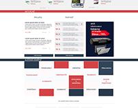 draft of homepage - corporate website