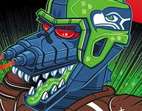 Legion of Boom - Seattle Times / SeaHawks MechaGodzilla