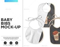 Baby Bibs 3 Types Mock-up