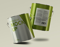 Aluminium Packaging Mockup