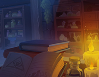 Concept Art Interior of the Wizard's House