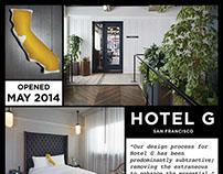 Hotel G poster for GBTA trade show
