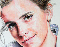 Emma Watson's Portrait - Watercolor Pencil