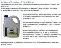 Sales Page Copy - Nanopur Concrete