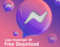 messenger Logo 3D Rendering - Free Download