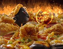 "Black Volcano Pizza ""Miss Spicy Lava"" 