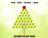 Racquet Holiday Flyer