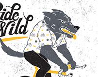 Ride Wild T-Shirt Design