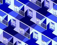 Isometric building (banner illustration)