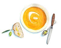 Mediterranean Pumpkin Velouté