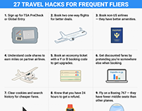 27 travel hacks for frequent fliers