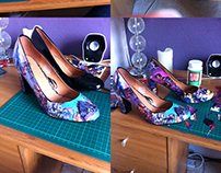 Comic Book Shoes Craft Project