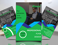 Flyer template with free PSD MOCK-UP