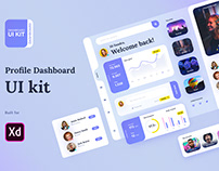 Profile dashboard XD freebie