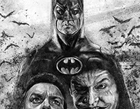 Batman (Burton/Keaton) tribute illustration
