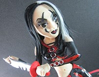 Mortal Kombat fan art: Sareena cold porcelain doll