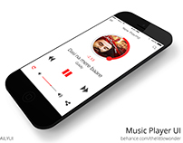 Minimal Music Player UI