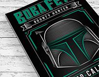 Boba Fett - Poster Old Style